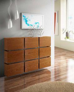 cache radiateur bois de design ultra moderne en fragments rectangulaires de bois