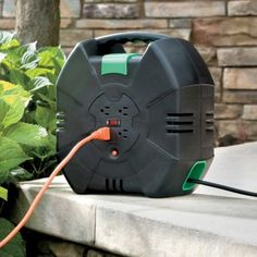 Automatic Rewind Extension Cord Reel- This will make an awesome gift for my hubby!