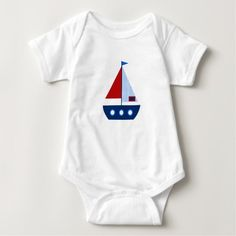 Red and Blue Nautical Sailboat Baby Boy Bodysuit @zazzle #sail #sailboat #boat #boating #zazzle #baby #cute #nautical #sea #ocean #themed #theme #clothes #toddler #boy #girl #fashion #style #apparel #shop #buy #sale #shopping #look #blog #blogging #nice #sweet #cool #awesome #fun