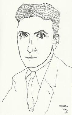 F. Scott Fitzgerald por José Luiz Tahan