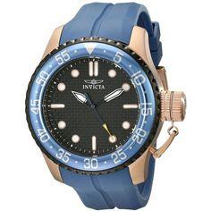 Tour Advanced Invicta Men's 17512 'Pro Diver' Japanese Quartz Blue... (€160) ❤ liked on Polyvore featuring men's fashion, men's jewelry, men's watches, blue, mens analog watches, men's blue dial watches, mens blue watches, mens leather strap watches and mens quartz watches