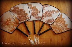 silk fans by Henna Trails, via Flickr
