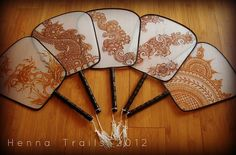 silk fans by Henna Trails, via Flickr