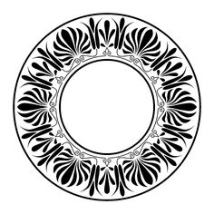 Ring ornament, frame, Greek palmette