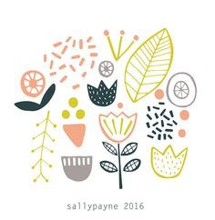 Sally Payne Illustration and Surface Pattern Designer Plant Illustration, Cute Illustration, Kids Patterns, Print Patterns, Kawaii Doodles, Doodle Drawings, Planner, Surface Pattern Design, Design Art