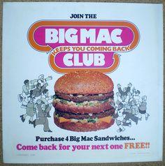 1978 McDonald's Big Mac Club