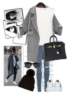 """""""Untitled #264"""" by roro-moon on Polyvore featuring Topshop, Chanel, Finders Keepers, adidas, Hermès and Le Specs"""
