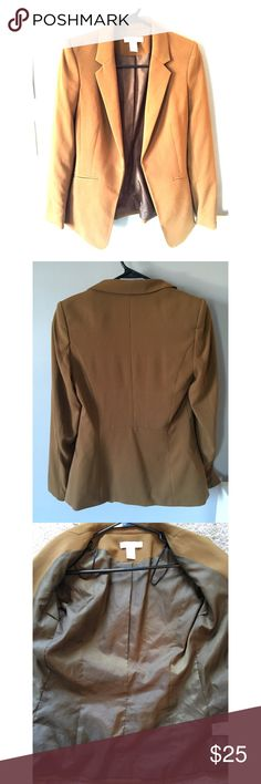 H&M Blazer H&M Blazer - Olive/Tan color. Worn once, great for work. Looks awesome with black pencil skirt or even just jeans and heels. Shoulders are slightly padded. Great condition! H&M Jackets & Coats Blazers