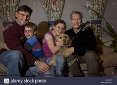 Ed Condon, left, and Norman Lorenz, right, are the same-sex parents Stock Photo, Royalty Free Image: 44298040 - Alamy