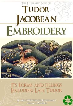 Rare illustrated TUDOR JACOBEAN EMBROIDERY Designs by HowToBooks, $3.99