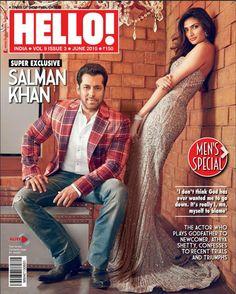 Salman Khan and Athiya Shetty on Hello! Magazine cover