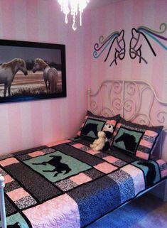 Horse quilt I made for Azriella she loves horses