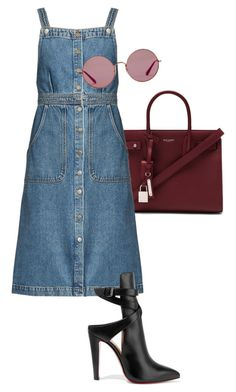 """Untitled #168"" by pavlinakrc on Polyvore featuring Yves Saint Laurent, M.i.h Jeans, Christian Louboutin and Ray-Ban"