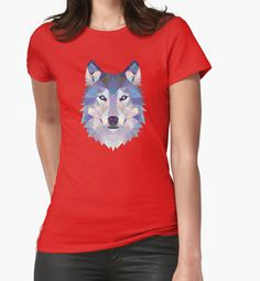 Game Of Thrones Polygonal Dire Wolf | RedBubble Womens Red Fitted TShirt | All Sizes Available for Women @redbubble @RedHillStudios
