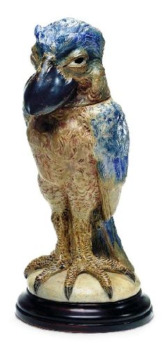 A very colourful Wally Bird by Robert Wallace Martin  late 1800s Martins Brothers Stoneware Pottery  1873 - 1915