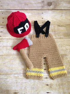 Newborn Fireman Firefighter Costume Prop  Hand made by me in a smoke-free, pet-free home.  Made to Order.  See Shipping & Policies tab for current production time.