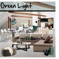 Green Light by szaboesz on Polyvore featuring interior, interiors, interior design, home, home decor, interior decorating, Tom Dixon, Design 55 and iittala