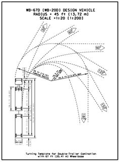 Tractor trailer turning radius diagram auto electrical wiring the turning radius for a single unit su 9 waste removal truck an rh pinterest com turning radius requirements trucks semi truck turning templates maxwellsz