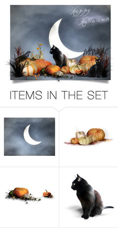 """""""Happy Halloween"""" by tygriss ❤ liked on Polyvore featuring art and Halloween"""