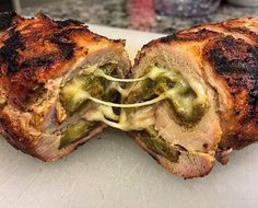 Green Chile Stuffed Pork Tenderloin Recipe (September it comes to New Mexico cuisine, you cannot omit the green chile. With it's commanding flavor, you can add it to just about anything. As a world renowned favorite, pork tenderloin is the Green Chili Pork, Green Chili Recipes, Mexican Food Recipes, Green Chile Stew, Kale Recipes, Avocado Recipes, Pumpkin Recipes, Recipies, Dinner Recipes