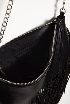 Fringed Faux Leather Crossbody | Forever 21 - 1000077394