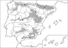 Mapa físico mudo | laclasedeptdemontse Ap Spanish, Spanish Grammar, Spanish Projects, Flipped Classroom, France, Social Science, Slytherin, Continents, Social Studies