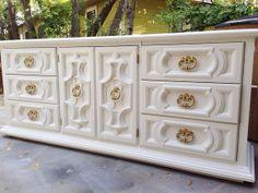 Carved Hollywood Regency Glam  by HayleonVintage on Etsy, $1495.00