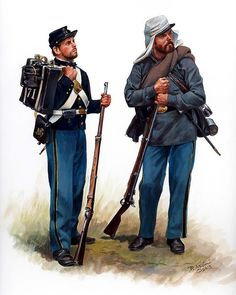 El 71º regimiento N.Y.S.M. se muestra aquí con el uniforme anterior y durante la batalla de Manassas. Artista Don Troiani.