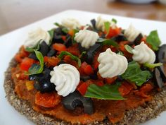 #Raw #Pizza with #Cashew Cheese - #Rawpizza #rawcheese #nutcheese #rawsome #rawfoodclass #rawfoodshare #rawchef