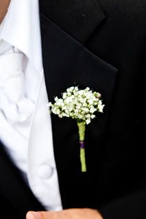 i love this look for groosmen.  I would like to have some baby's breath w/the groom's yellow tulip and for the 2 dads