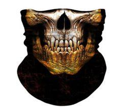 3D Skull Face Shield Motorcycle Windproof Anti-UV Scarf Headband