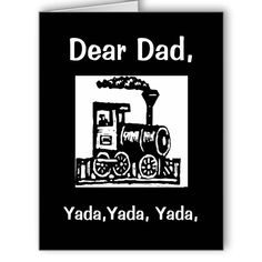 """Yada, Yada, Yada, Custom Father's Day Card Big Greeting Card; $9.95 - #stanrail -  Big Greeting Card;  Make keeping in touch a big deal with the BIG greeting card. Made for the biggest occasions and events, all parts of this folded card are customizable – inside and out, front and back. 8.5"""" x 11"""" (portrait) or 11"""" x 8.5"""" (landscape).   @stanrails_store"""