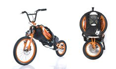 $1,499 Bike Backpack: Downhill biking poses one huge (and tiring) problem: actually getting the bike to the top of the hill. Instead of riding or pushing it up, Bergmönch's bike straps on like a backpack and quickly unfolds to reveal large tires, front and back disk brakes, and suspension, all at a weight that's a touch under 20 pounds. The one downside (other than cost), Bergmönch's bike is downhill only, offering forward motion strictly through gravity.