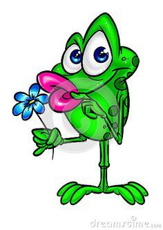 Frog Cartoon In Love Stock Vector - Image: 45746190