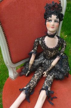 RARE ANTIQUE FRENCH BOUDOIR DOLL. eBay