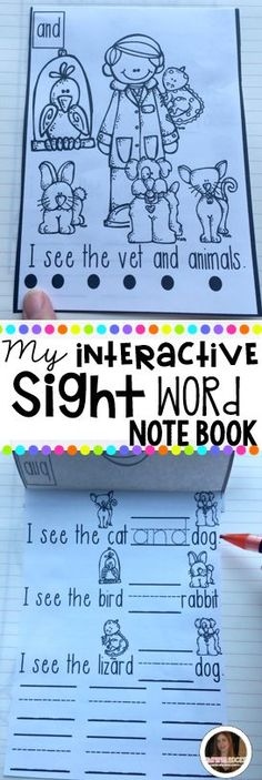 Looking for a fun, engaging, kindergarten appropriate interactive notebook? Your children will love this hands on-unique sight word notebook! There are over 40 sight words in this pre-primer unit!