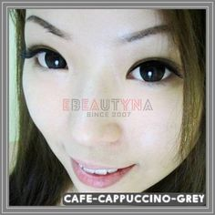 Cafe-cappuccino-grey Grey Contacts, Colored Contacts, Circle Lenses, Tinted Contact Lenses, Circle Glasses, Color Lenses, Colored Eye Contacts, Color Contacts