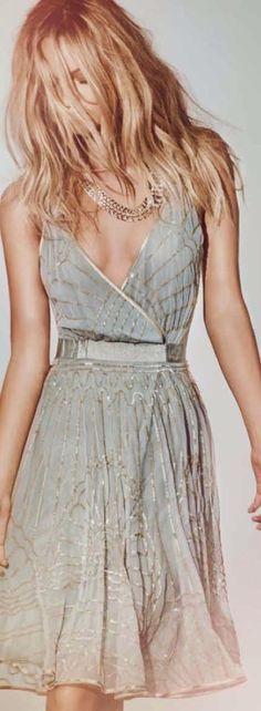 Deep Neck Light Weight Summer Dress