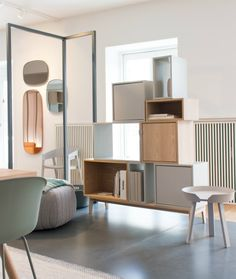 Our visit to Muuto showroom in Copenhagen, Stacked shelving system