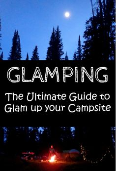 Sleeping outdoors doesn't mean you have to sacrifice style. Check out my tips on glamping here to learn how to glam up your next camping adventure.
