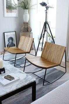 Reclaimed Teak Rocker. Modern FurnitureMetal FurnitureModern ChairsHome  Decor ...