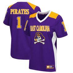 #1 East Carolina Pirates Colosseum Women's Football Jersey - Purple - $54.99