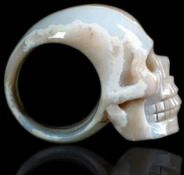 Skull Rings: Carved from Gemstones & Crystals, Jewelry for Men & Women http://www.thesterlingsilver.com/product/skull-and-bones-tie-clip-sterling-silver/