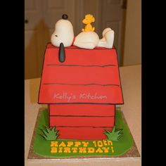 Snoopy Birthday cake by Kelly Stevens