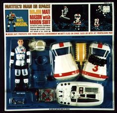 Major Matt Mason, astronaut - my brother John had this, along with the lunar rover and space station. John is now an aerospace engineer working for the Jet Propulsion Lab in Pasadena! Vintage Toys 1960s, 1960s Toys, Retro Toys, Gi Joe, Childhood Toys, Childhood Memories, Science Fiction, Space Toys, Toy Soldiers