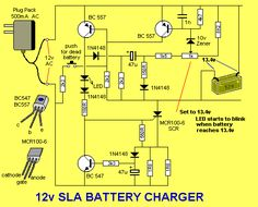 Solar Charge Controller Circuit Diagram | The LED flashes when the battery is charged . . .