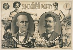 Poster-Eugene V. Debs and Ben Hanford as the Socialist Party candidates for President and Vice President on a 1904 campaign Poster prin Presidential Campaign Posters, Political Posters, Democratic Socialist, American Presidents, Vice President, Socialism, Poster Prints, Art Print