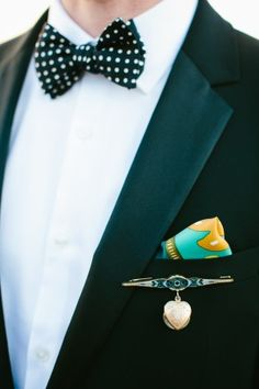 Groom in polka dot bow tie | photography by http://www.pencarlsonblog.com/