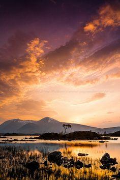 Sunset at Achallader, Scotland (copyright: Andrew McGavin)