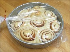 Cinnamon Buns Make & Freeze – Stash your homemade cinnamon buns in the freezer weeks ahead of time. This was so easy. Now I have 2 batches in my freezer :)